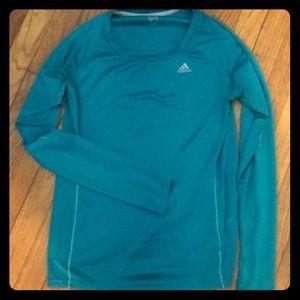 Teal Long Sleeve Adidas Shirt